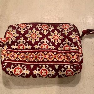 Vera Bradley Brown Medallion small makeup case